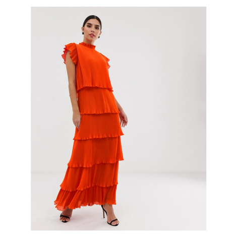Y.A.S pleated tiered maxi dress