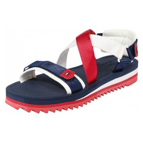Tommy Jeans Sandały 'SPIKEY 3' niebieski / czerwony / biały Tommy Hilfiger