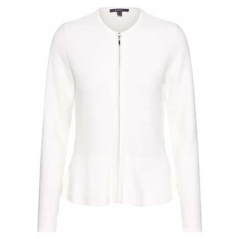 Esprit Collection Kardigan 'peplom cardigan' offwhite