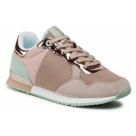 Pepe Jeans Sneakersy Archie Mirror 2 PLS31112 Beżowy