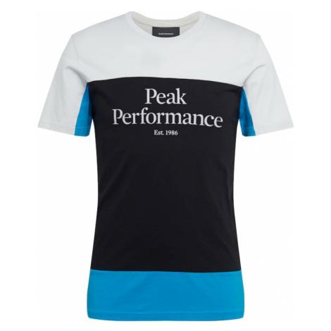 PEAK PERFORMANCE Koszulka 'Original Colorblocking' szary / niebieski / antracytowy
