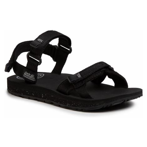 Sandały JACK WOLFSKIN - Outfresh Sandal W 4039461 Black/Light Grey