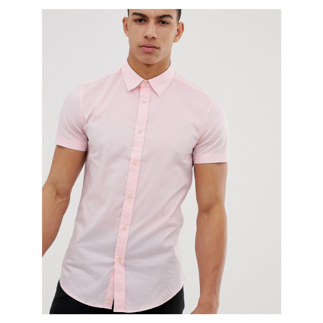 United Colors Of Benetton short sleeve shirt in pink