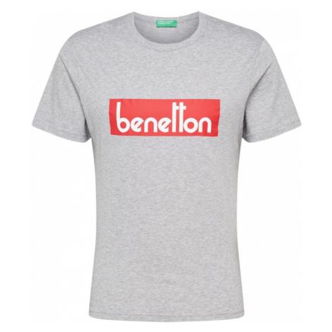 UNITED COLORS OF BENETTON Koszulka nakrapiany szary / czerwony / biały