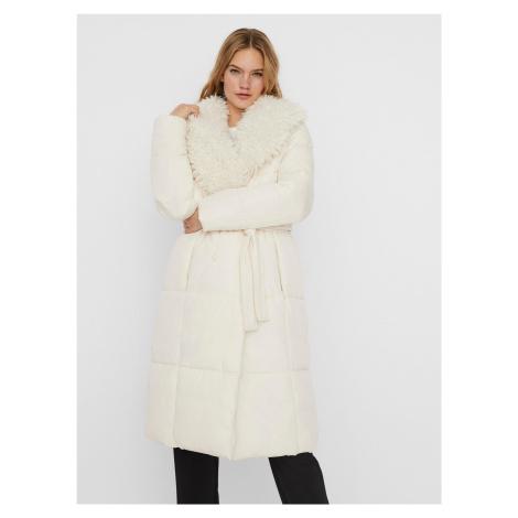 Vero Moda écru/kremowy zimowa płaszcz