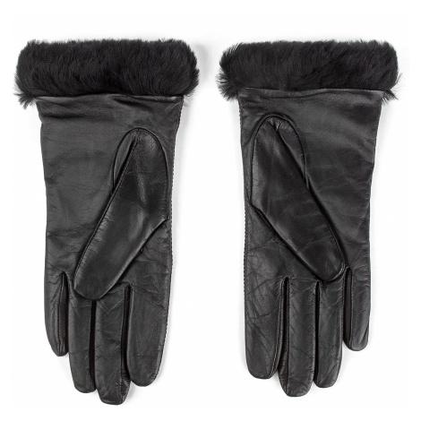 Rękawiczki Damskie UGG - W Classic Leather Logo Glove 17440 Black