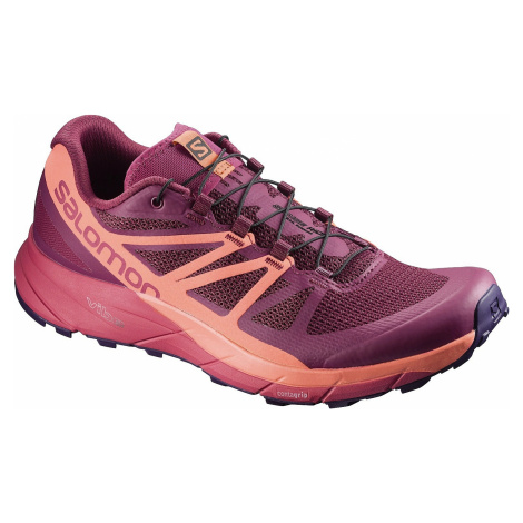buty Salomon Sense Ride W - Sangria/Living Coral/Virtual Pink