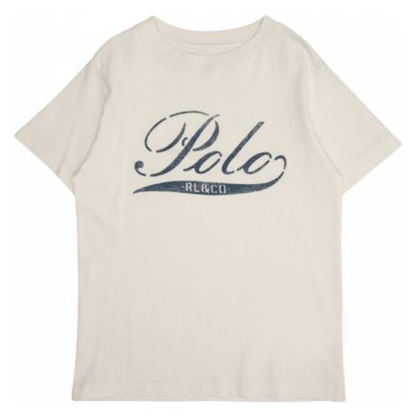 POLO RALPH LAUREN Koszulka 'GRAPHIC CN' kremowy / ciemny niebieski