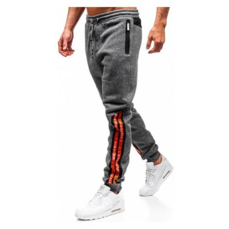 Spodnie męskie dresowe grafitowe Denley Q3869 CRWS DNM