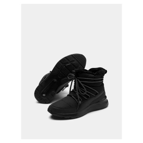 Czarne damskie buty zimowe Puma Adela