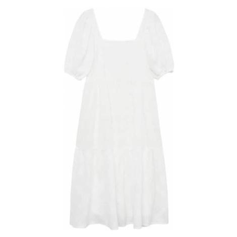 MANGO Sukienka nakrapiany biały