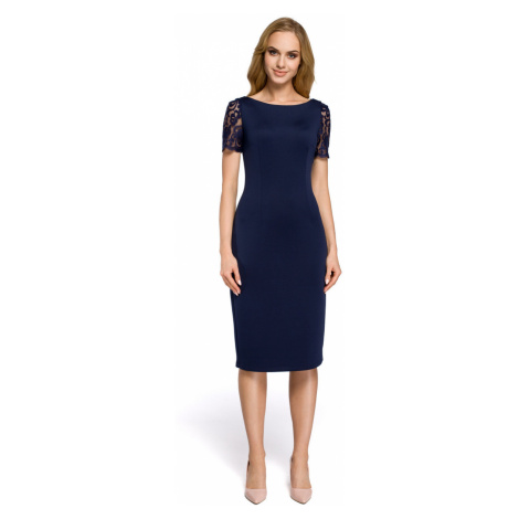 Made Of Emotion Woman's Dress M274 Navy Blue