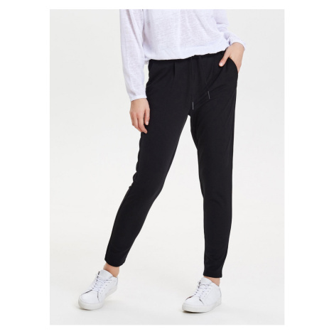 Black Cropped Trousers With High Waist ONLY Poptrash