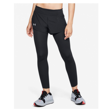 Under Armour Speedpocket 2-in-1 Runner Legginsy Czarny