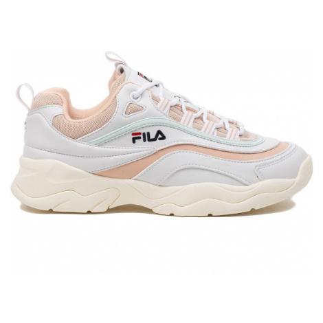 damskie buty FILA WMNS RAY LOW WHITE