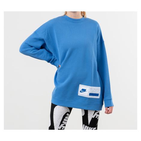 Nike Sportswear Fleece Oversized Crewneck Pacific Blue/ White/ Soar