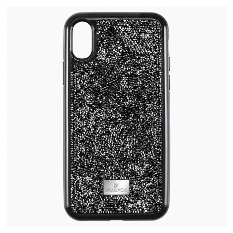 Etui na smartfona Glam Rock z ramką chroniącą przed uderzeniem, iPhone® XS Max, czarne Swarovski
