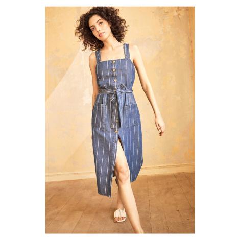 Jeansowa sukienka midi Orsay