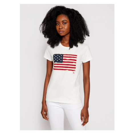 Polo Ralph Lauren T-Shirt 211663124 Beżowy Regular Fit