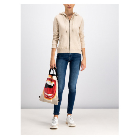 Pepe Jeans Bluza Zip Thru Ladies PL580545 Beżowy Regular Fit