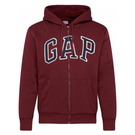 GAP Bluza rozpinana rubinowo-czerwony / granatowy / biały