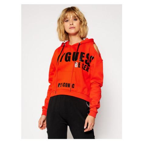 Guess Bluza Alyse W0BQ52 K68I0 Pomarańczowy Regular Fit
