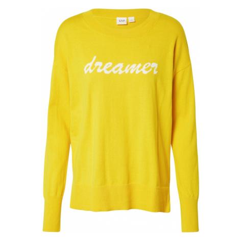 GAP Sweter biały / złoty żółty