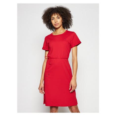 Tommy Hilfiger Sukienka codzienna Shift WW0WW27812 Czerwony Regular Fit