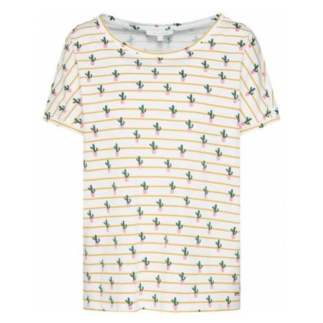 TOM TAILOR DENIM Koszulka 'boxy tee' beżowy / mieszane kolory