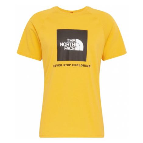 THE NORTH FACE Koszulka 'Red Box' biały / żółty / czarny