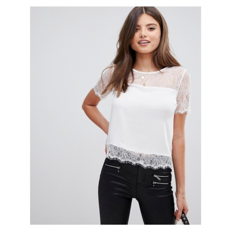 Lipsy lace top in white