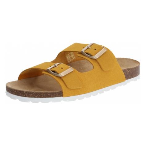 ONLY Sandały z rzemykami 'ONLMADISON' żółty