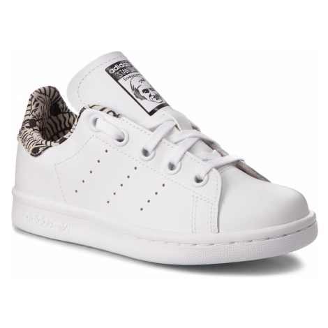 Buty adidas - Stan Smith C BC0277 Ftwwht/Ftwwht/Cblack