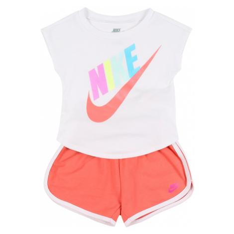 Nike Sportswear Zestaw 'FUTURA SS TEE & SHORT SET' pomarańczowy