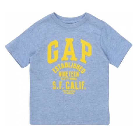 GAP Koszulka nakrapiany niebieski / żółty
