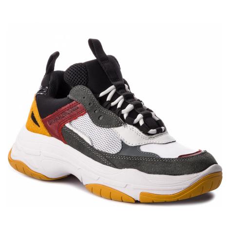 Sneakersy CALVIN KLEIN JEANS - Maya R0803 White/Black/Grey/Ros