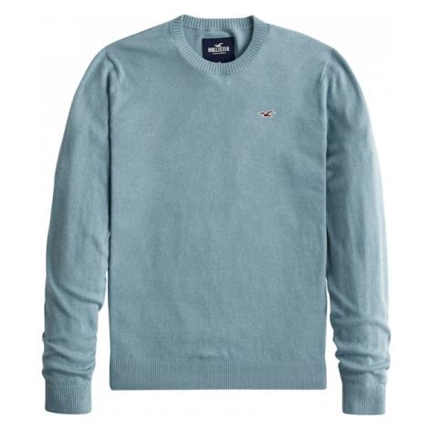 HOLLISTER Sweter nakrapiany niebieski