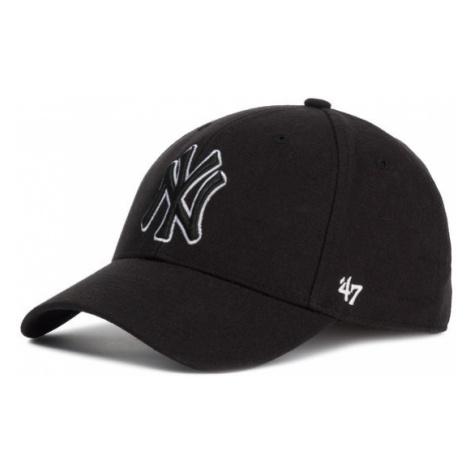 47 Brand Czapka z daszkiem New York Yankees B-MVPSP17WBP-BKC Czarny