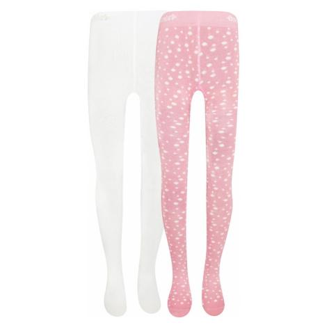 EWERS Rajstopy biały / różowy pudrowy