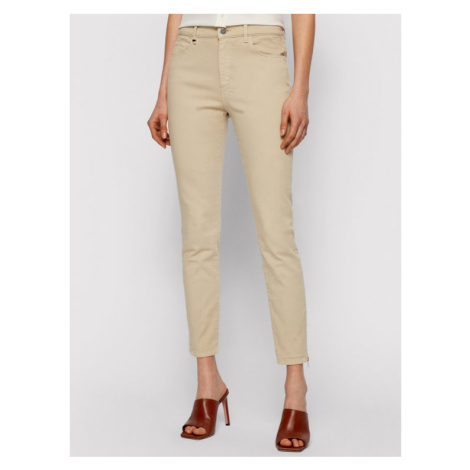 Boss Jeansy Crop 3.0 Canvas 50450858 Beżowy Skinny Fit Hugo Boss