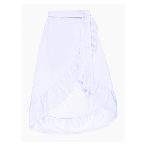 GATE Asymetryczna kopertowa spódnica midi z falbaną