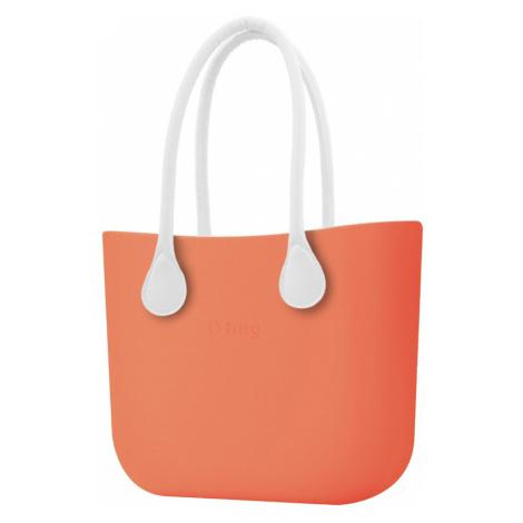 O bag torebka Papaya z długimi białymi uchwytami ze skajki