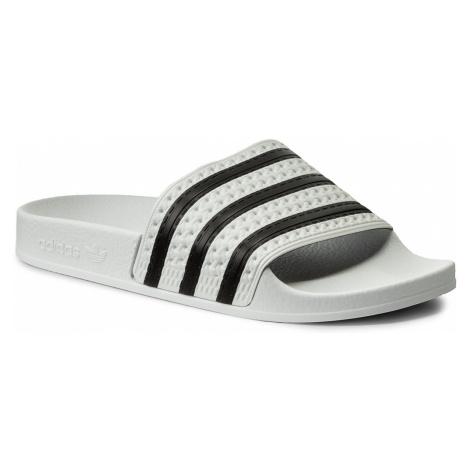 Klapki adidas - adilette 280648 White/None/White