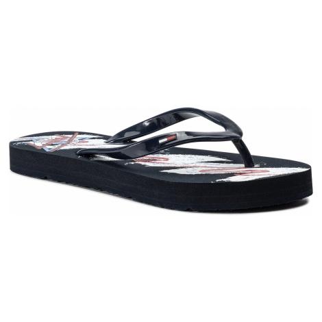 Japonki TOMMY JEANS - Beach Sandal EN0EN00595 Midnight 403 Tommy Hilfiger
