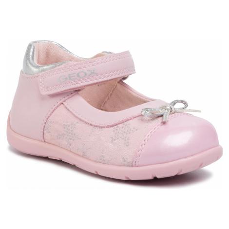 Półbuty GEOX - B Elthan G. C B021QC 01054 C0007 Pink/Silver