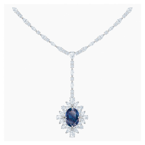 Naszyjnik w kształcie litery Y Palace, niebieski, powlekany rodem Swarovski