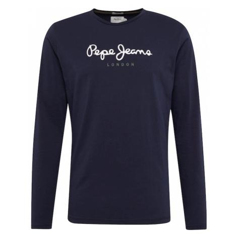 Pepe Jeans Koszulka 'EGGO LONG' ciemny niebieski / biały