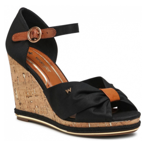 Wrangler Sandały Panama Cross WL11652A Czarny