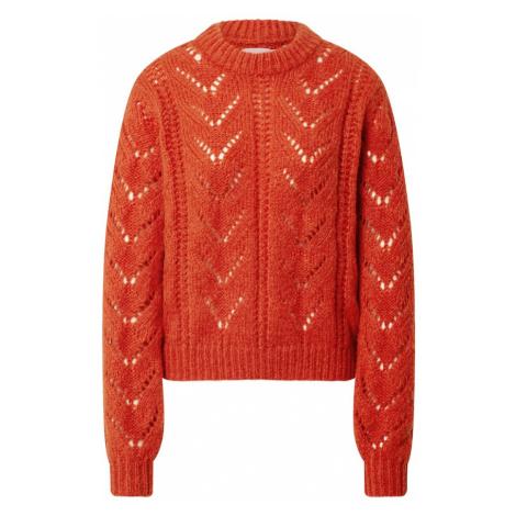PIECES Sweter pomarańczowy
