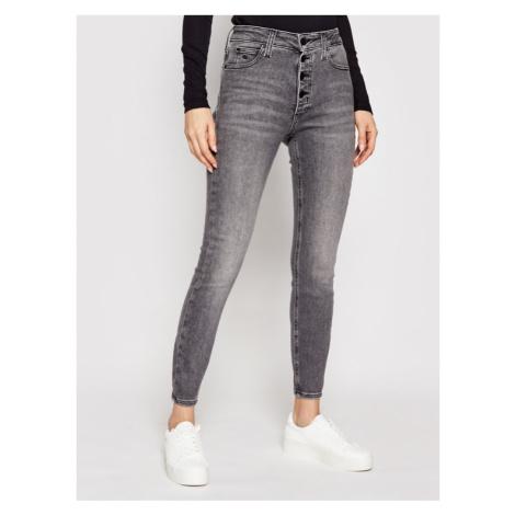 Calvin Klein Jeans Jeansy J20J216299 Szary Super Skinny Fit